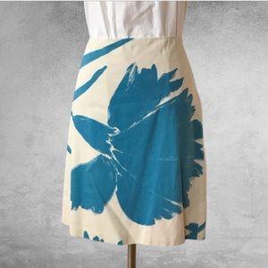 CLUB MONACO Floral A-Line Skirt 4